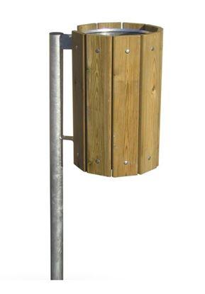 CESTINO ECOWOOD in lamiera di acciaio rivestito con doghe in legno