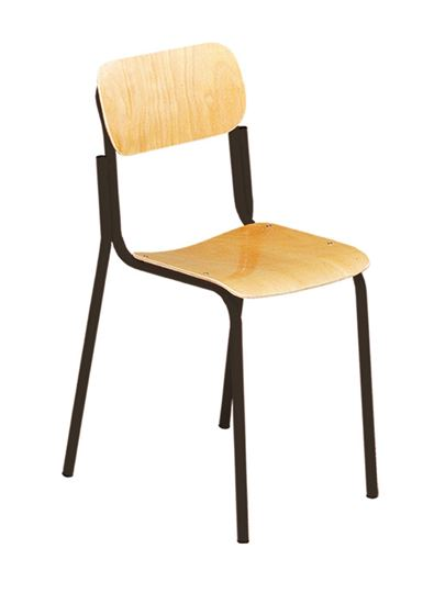 Sedia alunni con sedile e spalliera in faggio