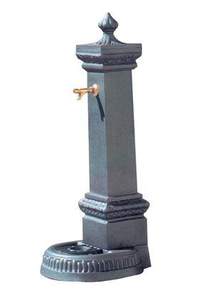 FONTANA MILANO in ghisa completa di rubinetto in ottone a pulsante, altezza cm. 120 circa
