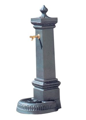 FONTANA MILANO GRANDE in ghisa completa di rubinetto in ottone a pulsante, altezza cm. 140 circa