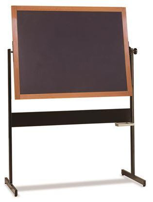 Lavagna su cavalletto in ardesia naturale cm. 130x100 con cornice in faggio e vaschetta portagessi