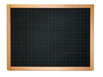Lavagna a muro in ardesia quadrettata cm. 130x100 con cornice in faggio e vaschetta portagessi
