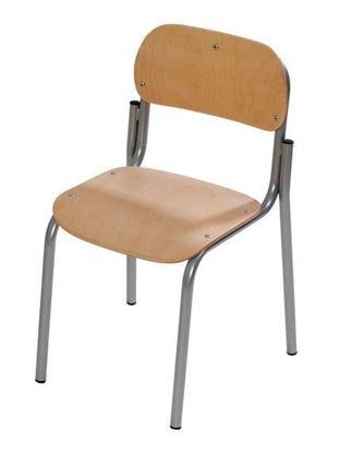 Sediolina alunni con sedile e spalliera in faggio