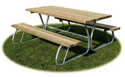 TAVOLO PIC-NIC con struttura in acciaio e n.02 sedute senza schienale