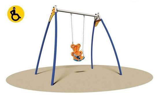 ALTALENA BEAR in acciaio con sedile a forma di orsetto adatto anche per bambini disabili