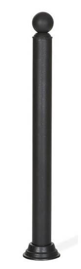 DISSUASORE COMO in tubo di acciaio con sfera superiore, verniciato colore canna di fucile