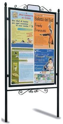 TABELLONE CLASSIC per affissioni bifacciali per centro storico, dim. utili per affissione cm. 110x160