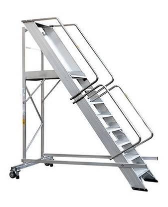 SCALA SUPER in alluminio con stabilizzatore a 4 gradini