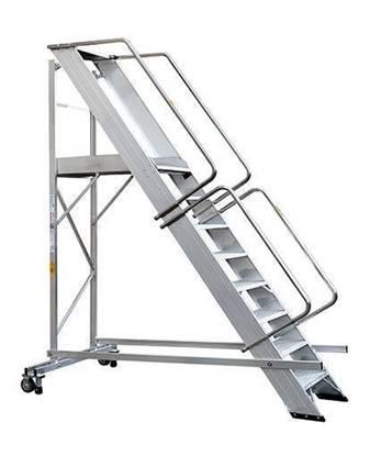 SCALA SUPER in alluminio con stabilizzatore a 5 gradini