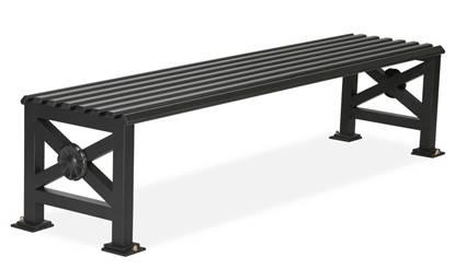 PANCA SOFIA di forma artistica in acciaio zincato e verniciato lunghezza cm. 200