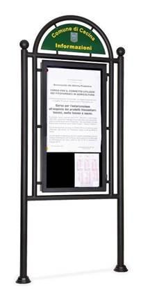 TABELLONE ATENE a giorno per pubblica affissione, dim. utili per affissione cm. 80x150 h