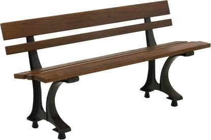 PANCHINA MODENA con supporti in ghisa, seduta e spalliera in legno