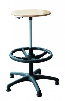 Sgabello con seduta regolabiele in altezza e ruote