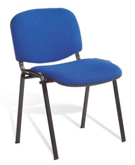 Sedia Chiara con seduta e schienale imbottiti e tappezzati in tessuto
