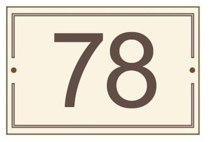 Numero civico in laminato stratificato dim. cm. 11x16,  completo di cornice perimetrale e numeri incisi