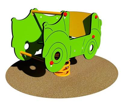 SUPER CAR a molla fruibile anche da bambini disabili